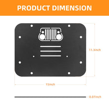 Load image into Gallery viewer, Tailgate Vent Plate Cover Spare Tire Delete Filler Plate with Rubber Plugs For 07-17 Jeep Wrangler JK JKU