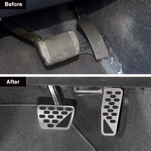 2pcs Gas Brake Pedal Cover No Drilling Foot Pedal Pads for Jeep Wrangler JL 2018-2020
