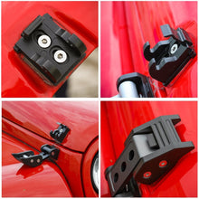 Load image into Gallery viewer, Black Aluminum Hood Latches Locking Hood Catch Kit For 2007-2018 Jeep Wrangler JK JKU