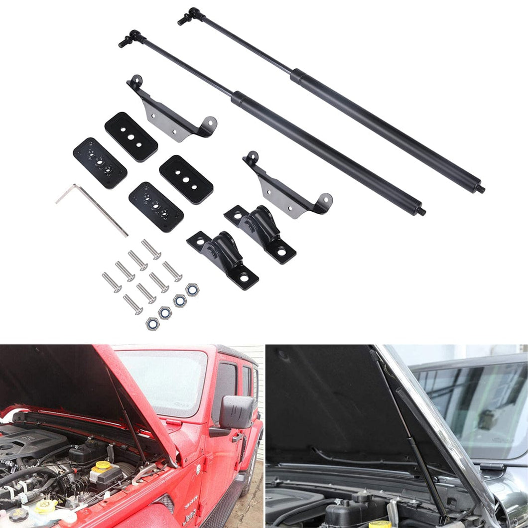 Front Hood Lift Support Struts Shock Telescopic Rod Engine Cover Hydraulic Rod Kit for Jeep Wrangler JL