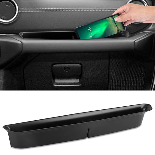 Grab Tray Passenger Storage Tray Organizer Grab Handle Accessory Box for 2018 2019 Jeep Wrangler JL JLU