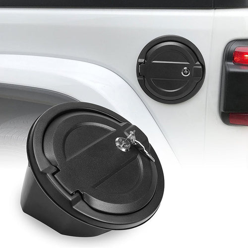 Gas Tank Cap Fuel Filler Door Cover with Locking For Jeep Wrangler JL & Unlimited 2/4 Door