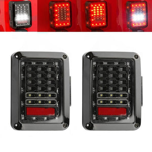 Clear Lens LED Tail Light Taillights Assembly For Jeep Wrangler JK JKU 2007 - 2018 (US Version)