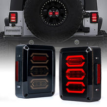 Load image into Gallery viewer, Smoke Lens G3 Diamond Series LED Taillights w/ Turn Signal & Back Up For Jeep Wrangler JK JKU 07 - 18