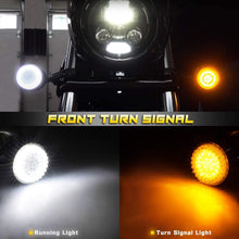 Load image into Gallery viewer, Front 1157 LED Turn Signals Lamps White Amber Running Lights For Motorcycle Dyna Touring