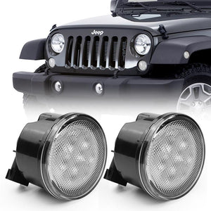 LED Amber Turn Signal with Smoke/Clear Lens for 07-18 Jeep Wrangler