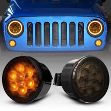 Load image into Gallery viewer, LED Amber Turn Signal with Smoke/Clear Lens for 07-18 Jeep Wrangler