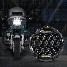 Load image into Gallery viewer, 75W 7 inch CREE LED Motorcycle Headlights With DRL