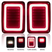 Load image into Gallery viewer, US Version LED Tail Lights With Smoke Lens For Jeep Wrangler JK JKU 2007-2018