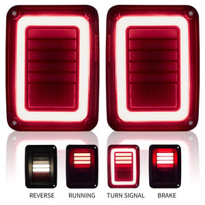 US Version LED Tail Lights With Smoke Lens For Jeep Wrangler JK JKU 2007-2018