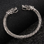 Silver Plated Ancient Dragon Bracelet