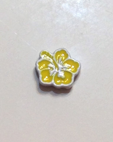 Yellow Hibiscus Floating Charm - Stoney Creek Charms