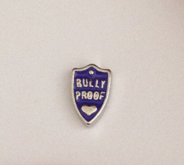 Bully Proof Shield Floating Charm - Stoney Creek Charms