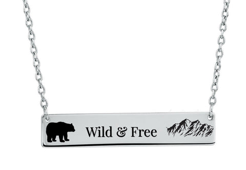 Alaska Wild and Free Necklace - Stoney Creek Charms