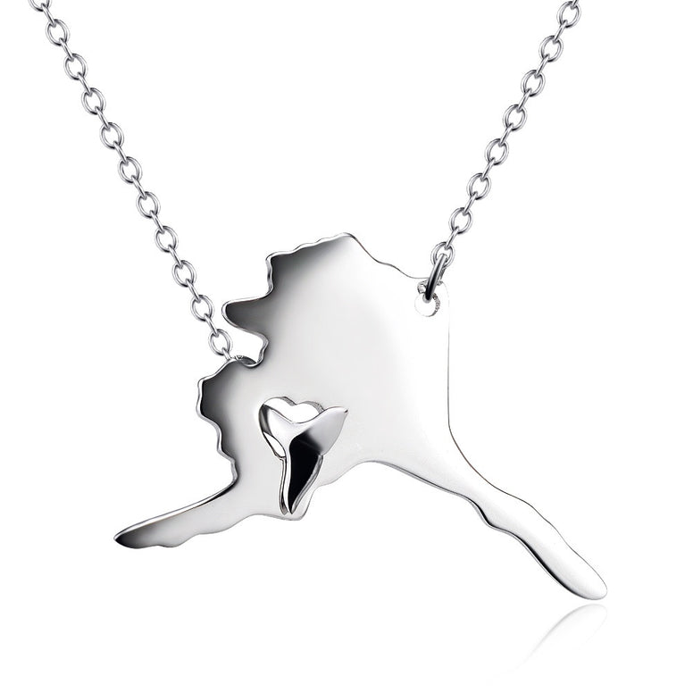Alaska Necklace with Whale Tail