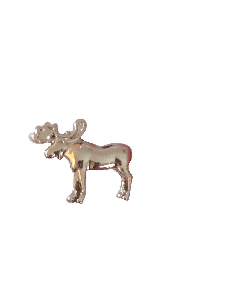 Silver Moose Floating Charm - Stoney Creek Charms