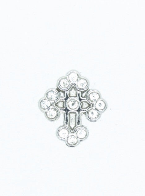 Crystal Cross floating locket charm - Stoney Creek Charms