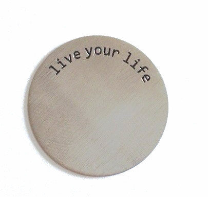 Live Your Life Floating Locket Plate - Stoney Creek Charms