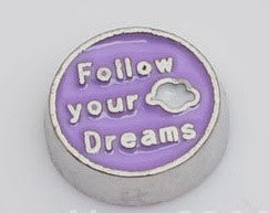 Follow your dreams floating locket charm - Stoney Creek Charms - 1