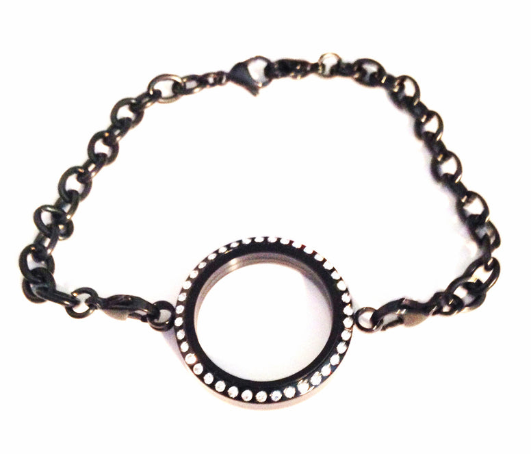 Black locket bracelet - Stoney Creek Charms