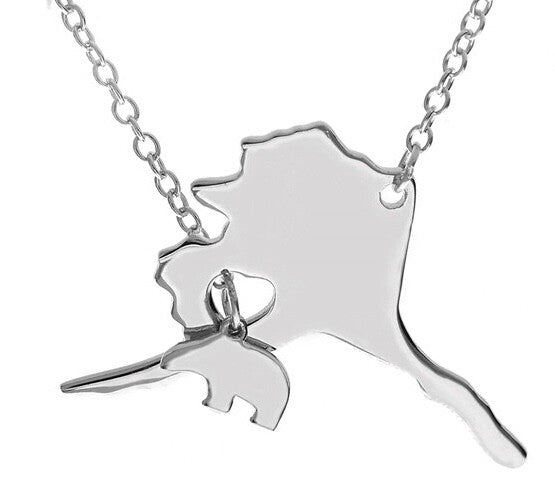 Alaska Necklace with Polar Bear - Stoney Creek Charms