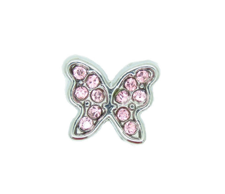 Butterfly Pink Floating Charm - Stoney Creek Charms