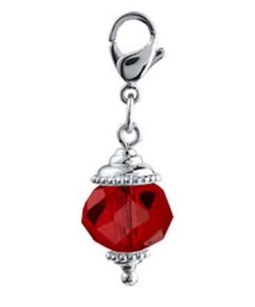 Red dangle for floating lockets - Stoney Creek Charms