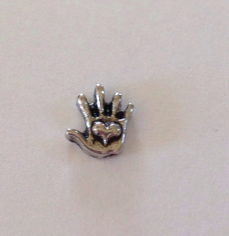 Heart Hand Floating Charm - Stoney Creek Charms