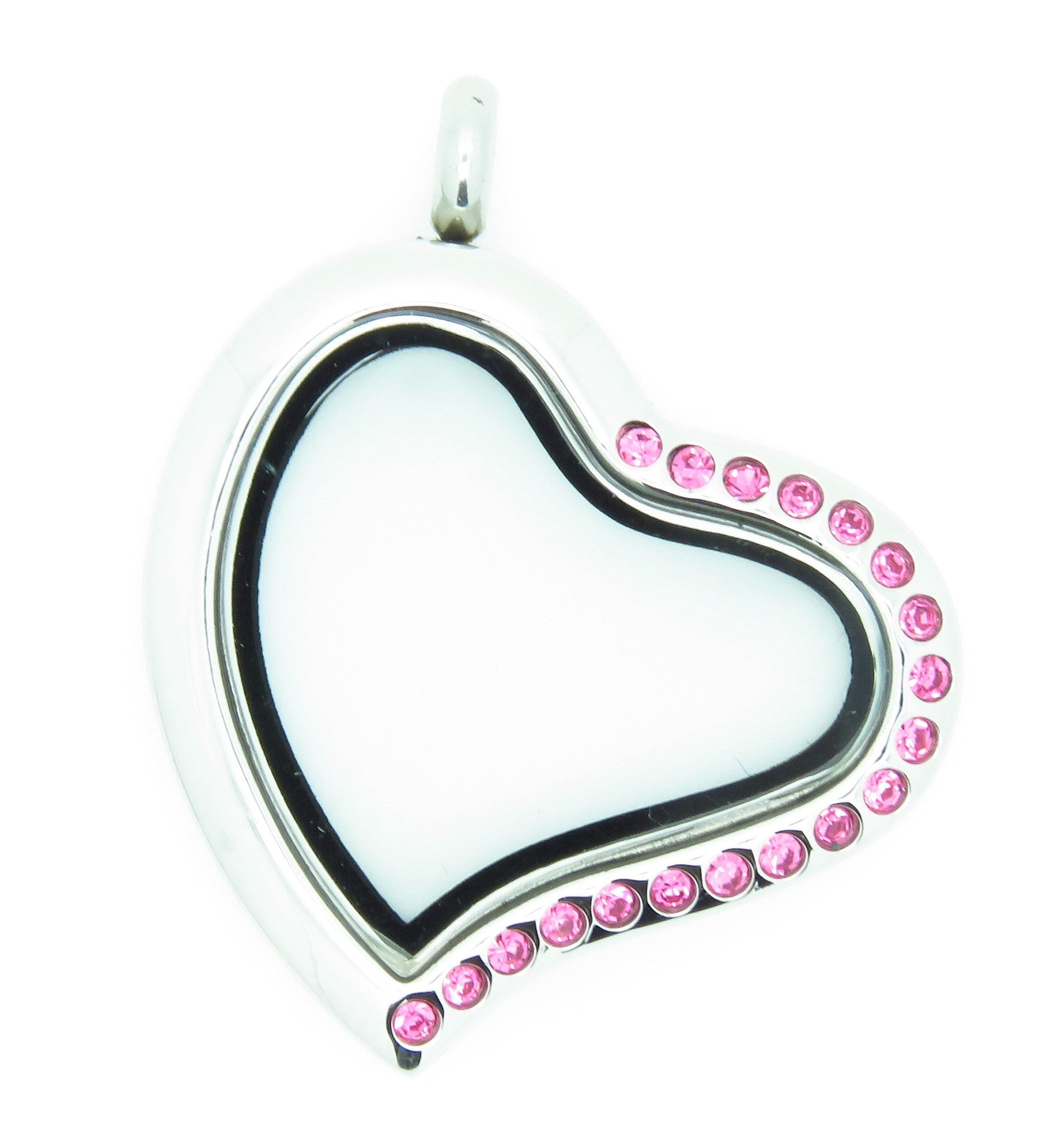 Crystal Heart Locket With Pink