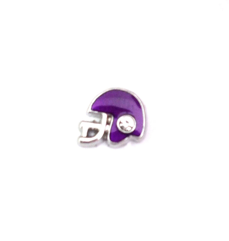 Football helmet floating locket charm - Stoney Creek Charms