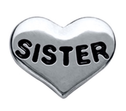 Sister floating locket charm - Stoney Creek Charms
