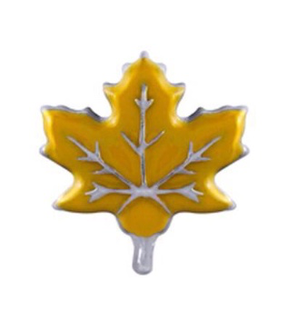 Yellow Maple Leaf Charm - Stoney Creek Charms