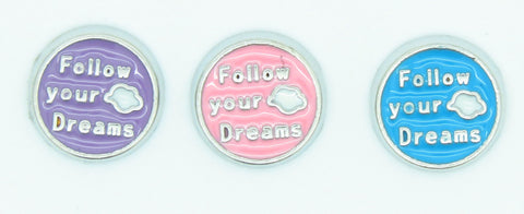 Follow your dreams floating locket charm - Stoney Creek Charms - 2