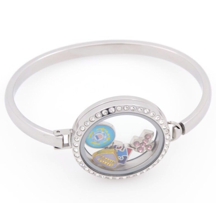 Bangle locket bracelet