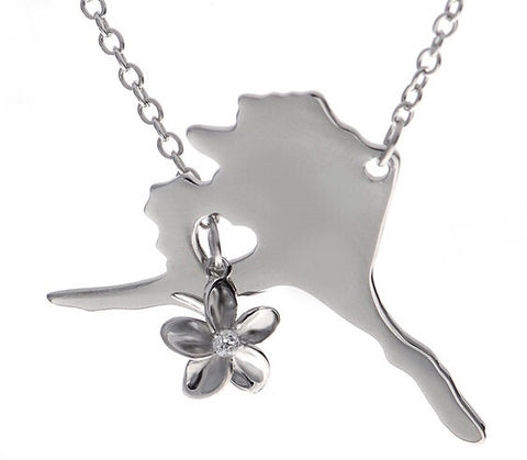 Alaska Necklace with Forget Me Not Flower - Stoney Creek Charms