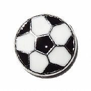 Soccer ball floating locket charm - Stoney Creek Charms