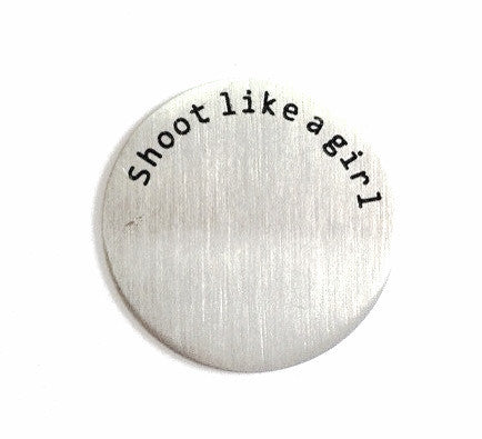 Shoot Like A Girl Floating Locket Plate - Stoney Creek Charms