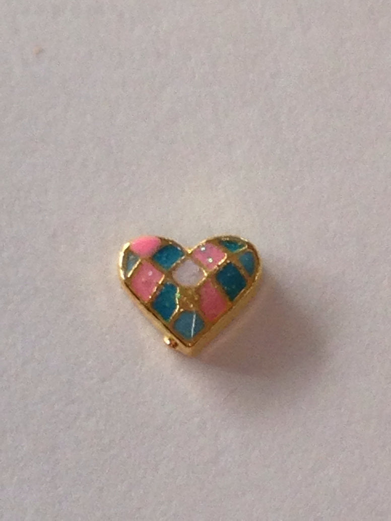 Quilted Heart Floating Charm - Stoney Creek Charms