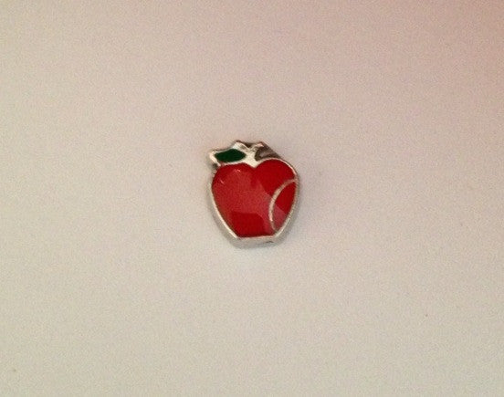 Red apple floating locket charm - Stoney Creek Charms