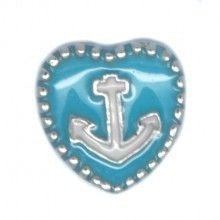 Blue Anchor Heart - Stoney Creek Charms