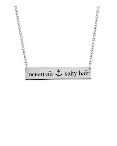 Ocean Air Salty Hair Bar Necklace - Stoney Creek Charms