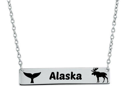 Alaska Whale Tail and Moose Necklace - Stoney Creek Charms