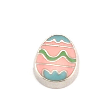 Pink Easter Egg Charm - Stoney Creek Charms