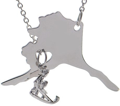Alaska Necklace with Dog Sled - Stoney Creek Charms