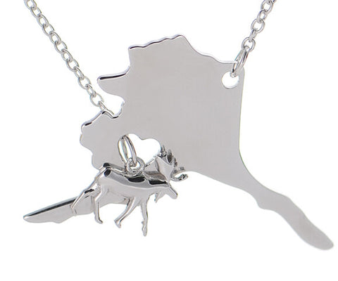 Alaska Necklace with Moose - Stoney Creek Charms