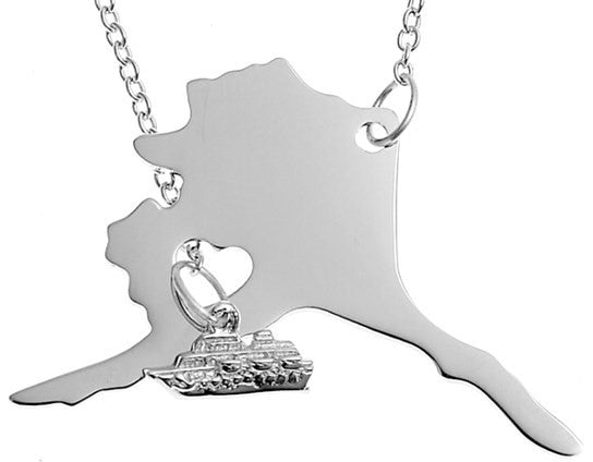 Alaska Necklace with Boat - Stoney Creek Charms