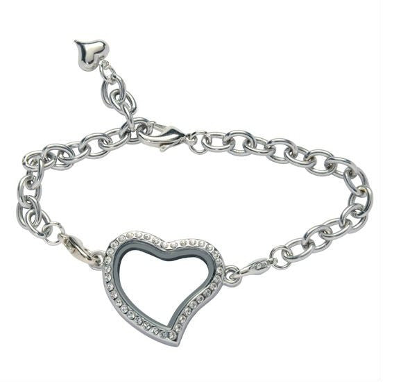 Heart Floating Locket Bracelet