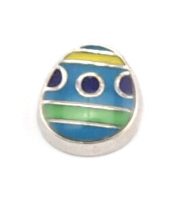 Blue Easter Egg Charm - Stoney Creek Charms