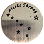 Alaska Strong Floating Locket Plate - Stoney Creek Charms