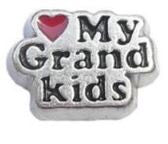 Love My Grandkids Floating Charm - Stoney Creek Charms